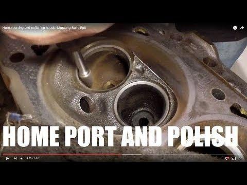 Home porting and polishing heads. Mustang Build Ep8