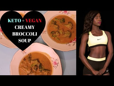 MY KETO DINNER | BROCCOLI CREAMY SOUP| VEGAN| DELICIOUS