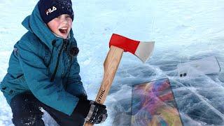 Нашли Айфон и Геймерский ПК во Льдах Крутые Находки на Заброшенном Озере