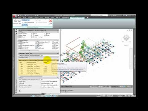 AutoCAD MEP 2012 Tutorial - Detecting Interferences