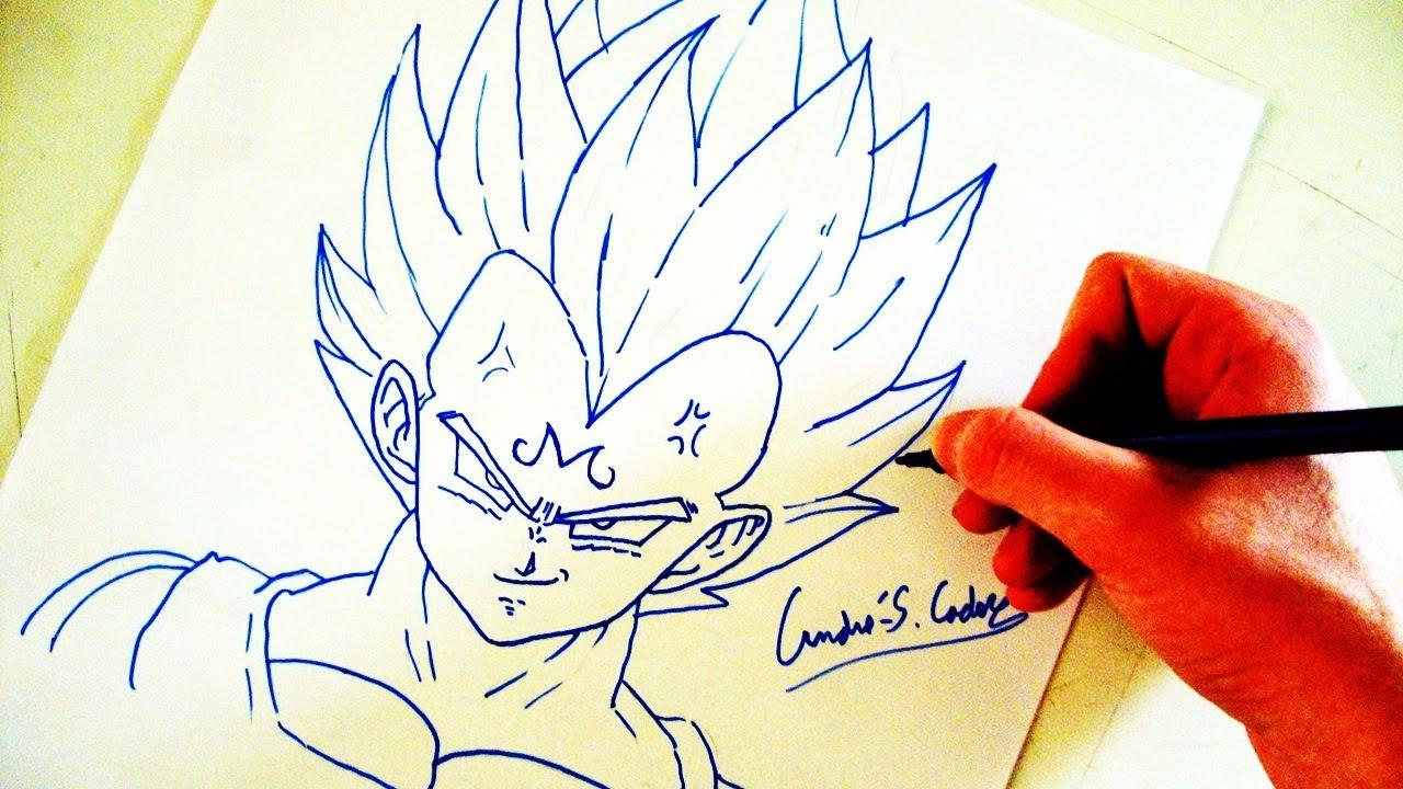 Como Desenhar O Vegeta SSJ2 (Majin Vegeta)
