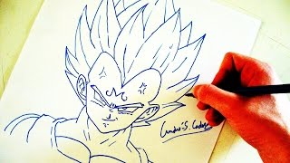 Como Desenhar o Vegeta SSJ2 (Majin Vegeta) - (How to Draw Majin Vegeta) - SLAY DESENHOS #108