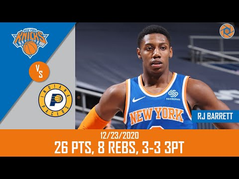 RJ Barrett's Full Game Highlights: 26 PTS, 8 REBS, 3-3 3PT vs Pacers | 20-21 NBA Regular Season