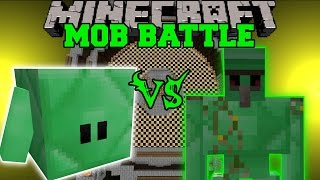 EMERALD BLOCKLING VS EMERALD GOLEM - Minecraft Mob Battles - Mods