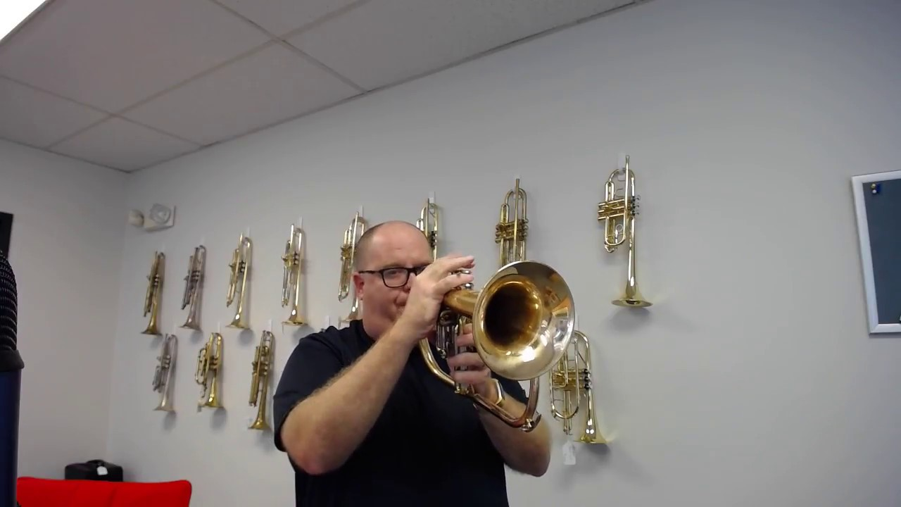 Yamaha 631 Flugelhorn In Raw Brass For Sale At Acb Youtube