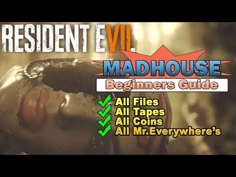 Resident Evil 7 Madhouse Full Game Walkthrough - All Collectibles Beginners Guide