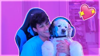 Ronaldo Makes His *CUTE* DOG Do TRICKS and TALK To Chat! (Ron Stream Highlights)