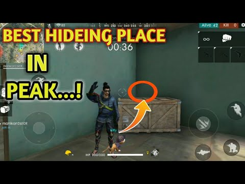 Free fire tricks in tamil/free fire best hiding place in peak tamil/Top hiding place free fire