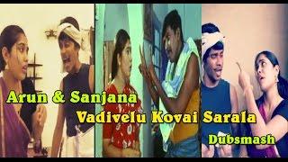 Arun & Sanjana Real Couple _Vadivelu Kovai Sarala Special Tamil Dubsmash New Video