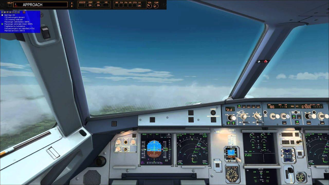 Approach into Mega Airport Zurich 2012 RWY 16 - FSX Steam by fabibs22