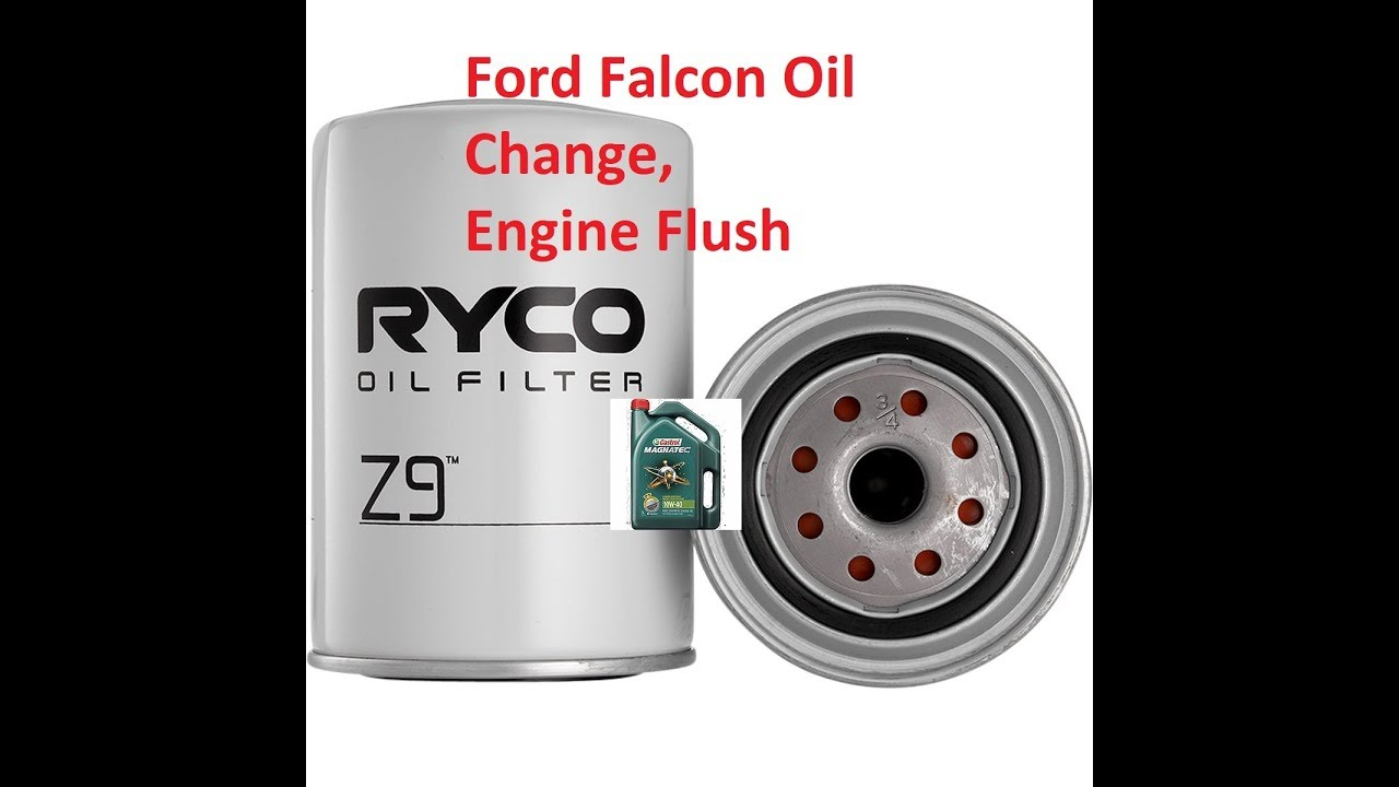 Ford BA BF Falcon Oil Change / Flush with a Air Intake Clean