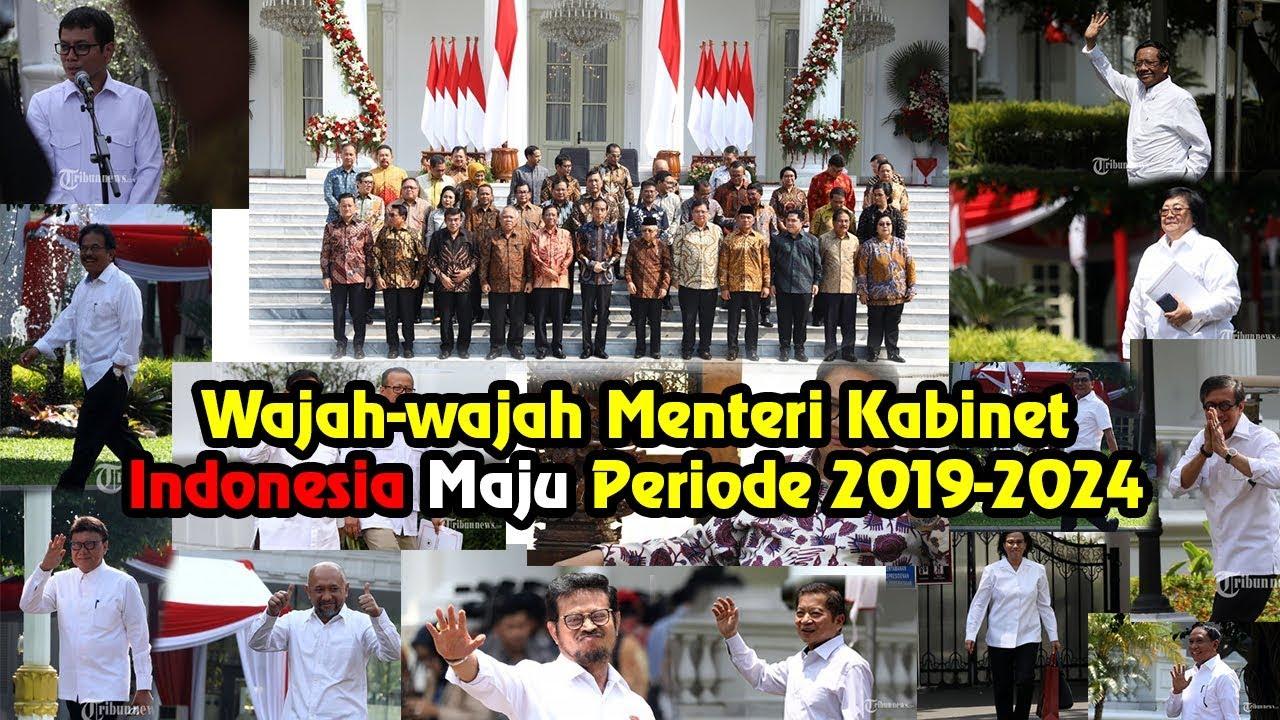 Wajah-wajah Menteri Kabinet Indonesia Maju periode 2019-2024