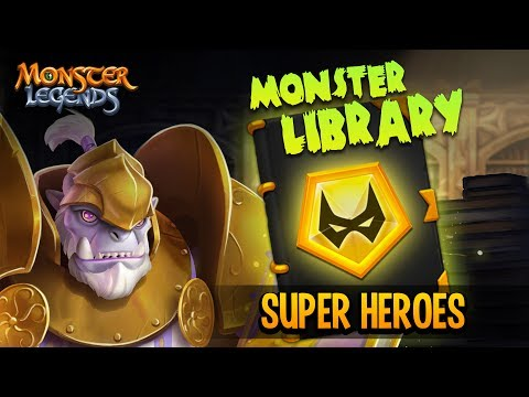 Monster Library - Super Heroes Book