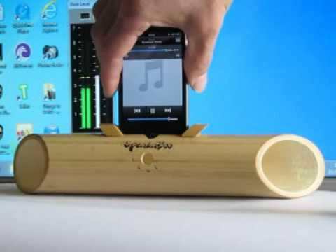 Speakaboo The Eco Friendly Acoustic Bamboo Speaker Amplifier Sound