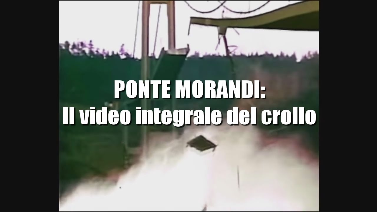 Ponte Morandi: il video integrale del crollo