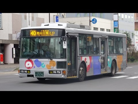 3DFHD旭川駅周辺に集うバス達1453午後~夕方