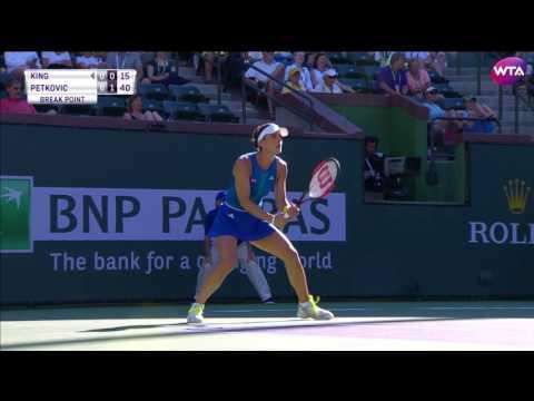 2017 BNP Paribas Open First Round   Andrea Petkovic vs Vania King   WTA Highlights