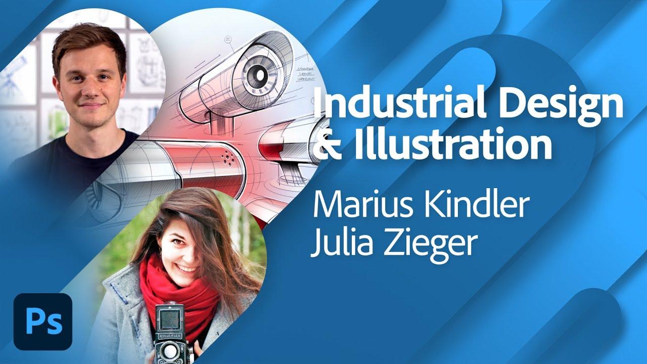 Industrial Design und Illustration mit Marius Kindler und Julia Zieger | Adobe Live