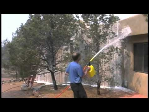 Novacool used to protect home from wildfire youtube for How to protect your house from fire