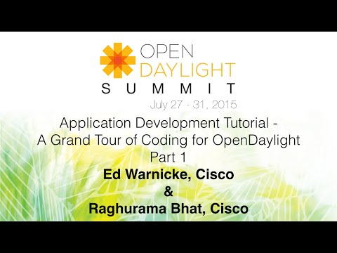Application Development Tutorial - A Grand Tour of Coding for OpenDaylight Part 1