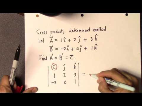 Cross product, determinant method