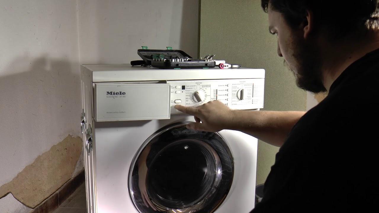 Waschmaschine Läuft Aus Miele Wt945 Teil 1 Youtube