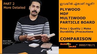 Which one is Better? Plywood, MDF, Multiwood and Particle Board Comparison | Part 2