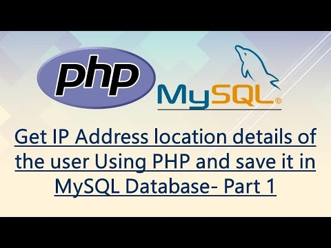 PHP Get IP Address location details of the user and save in