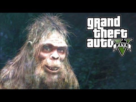 GTA 5 Easter Eggs - Bigfoot! (GTA V Easter...