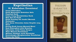 PIKIRAN, KARAKTER DAN KEPRIBADIAN: Kepribadian 66. Kebutuhan Emosional bag.1 - Edison Simatupang