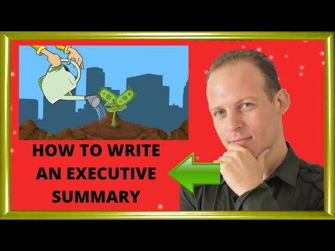 how to write an executive summary in a business plan youtube