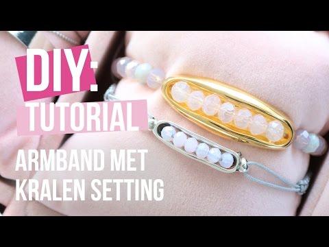 Sieraden maken: Voorjaarsarmbandjes met setting voor kralen van DQ metaal ♡ DIY