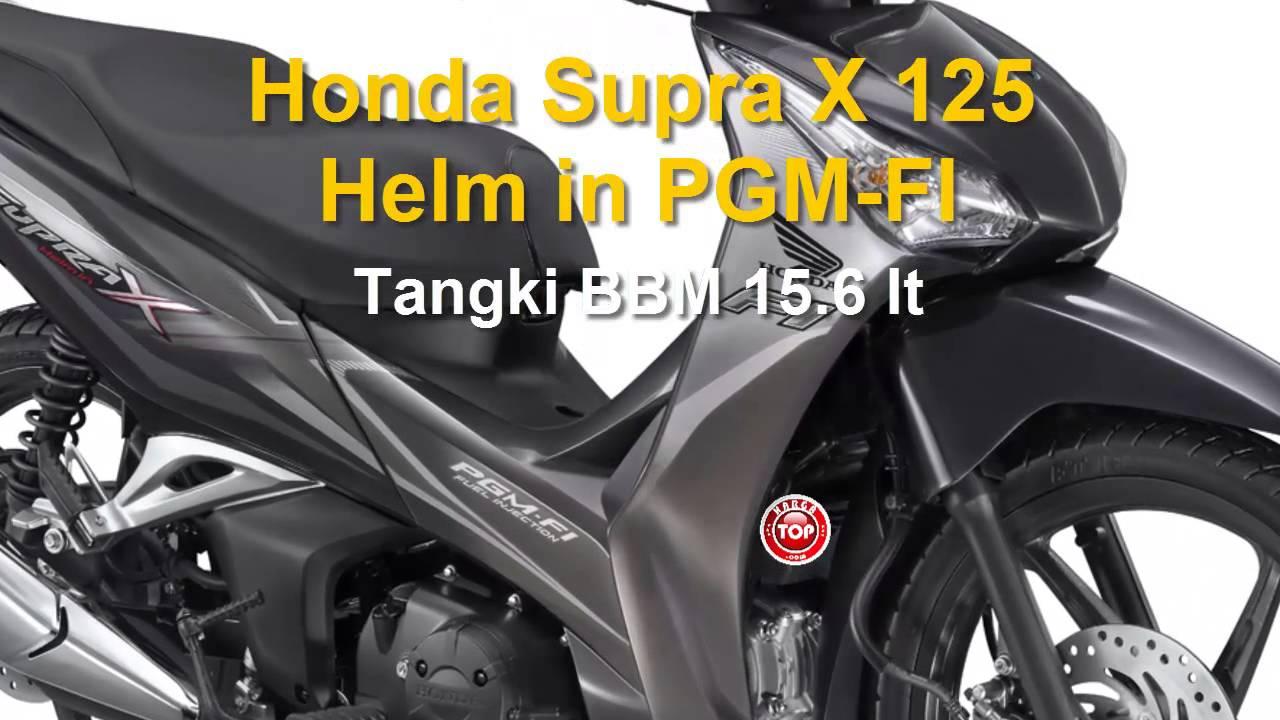 Honda Supra X 125 Helm In PGM FI Harga Dan Spesifikasi YouTube