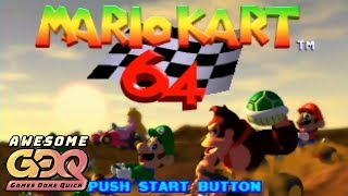Mario Kart 64 by Abney317 in 29:15 - AGDQ2019
