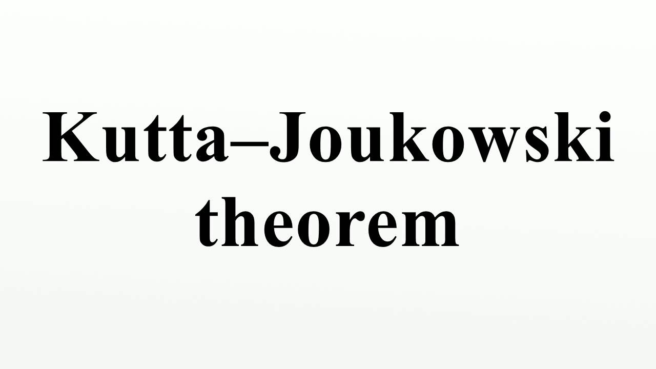KUTTA JOUKOWSKI THEOREM PDF