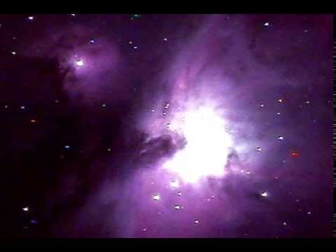 Orion Nebula live video through Telescope! - YouTube