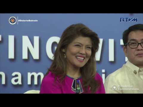 Meeting with the Filipino Community in Bahrain (Speech) 4/14/2017