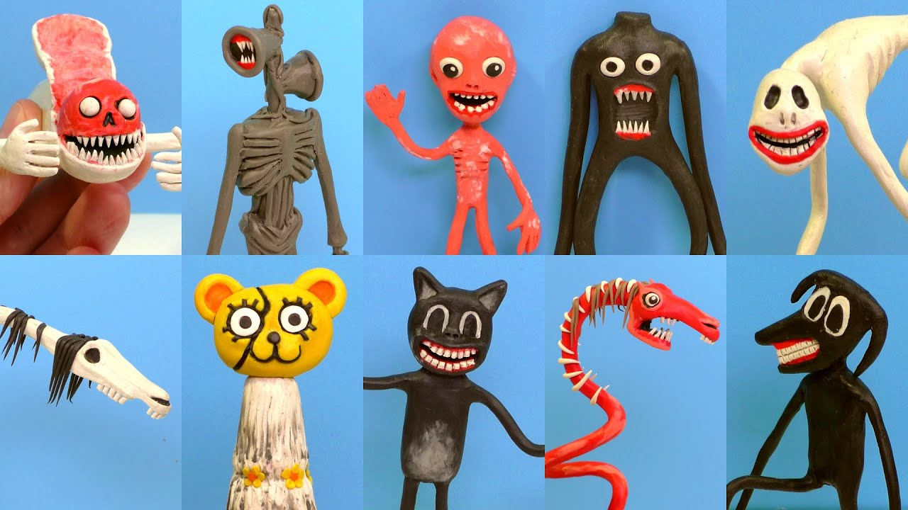 Download ALL MONSTERS Trevor Henderson with Clay