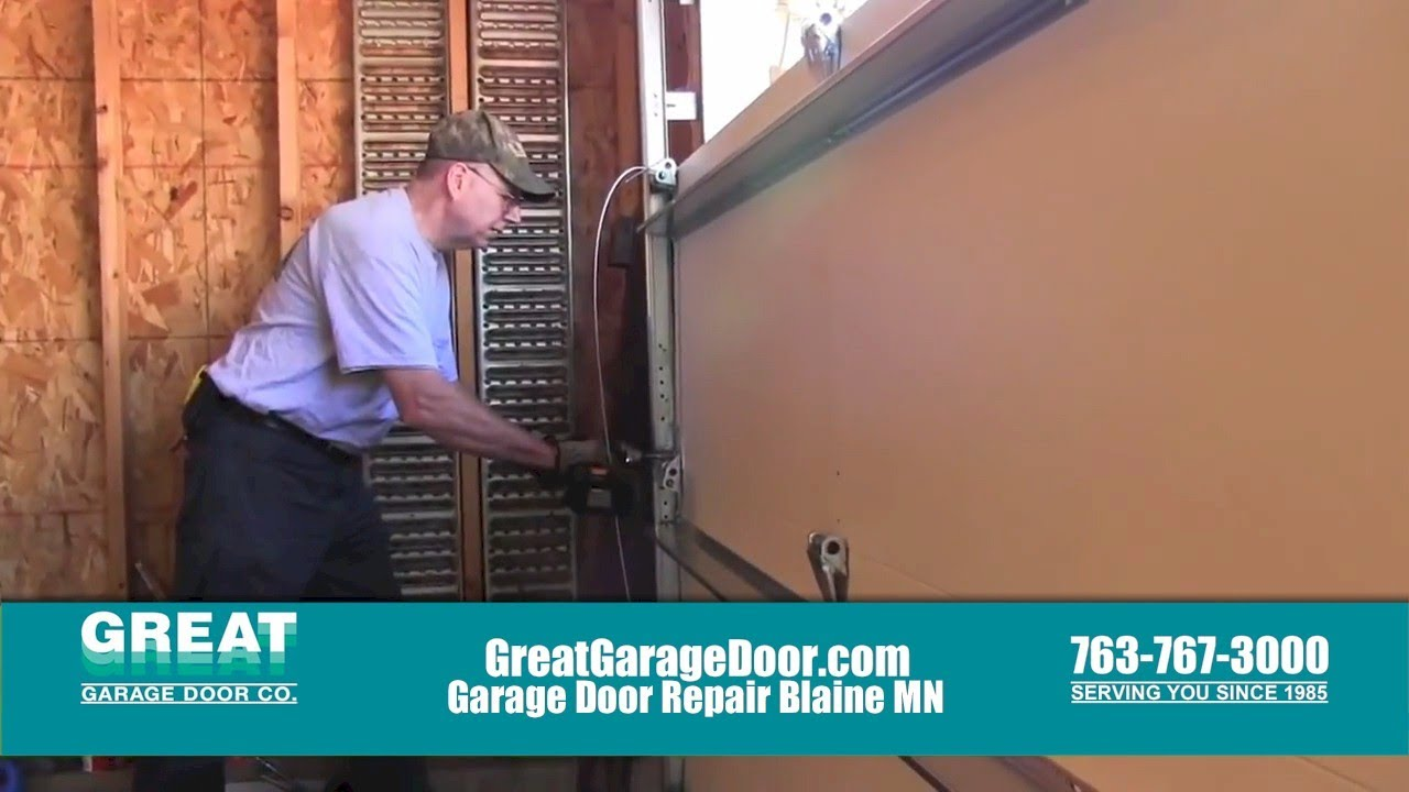 Garage Door Repair Blaine Mn Youtube