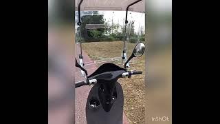 윈드스크린 긴 전동 배터리카 우산 오토바이 바람막이 커…