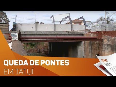 Queda de pontes causa transtornos em Tatuí - TV SOROCABA/SBT