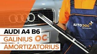 Kaip pakeisti galinius amortizatorius AUDI A4 B6 [PAMOKA]