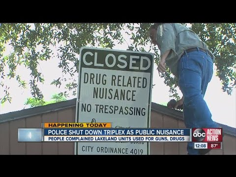 Police shut down triplex as public nuisance