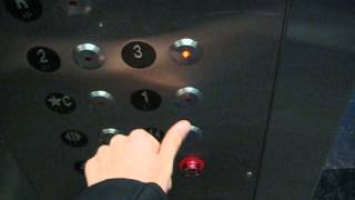 480p Retake: Main St Schindler Highdraulic Elevator at New World Mall Flushing, NY