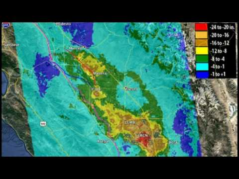 Central California Is Sinking by 1-2 Feet a Year