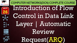 Automatic Review Request(ARQ) – Introduction of Flow Control - Networking Lectures in Hindi