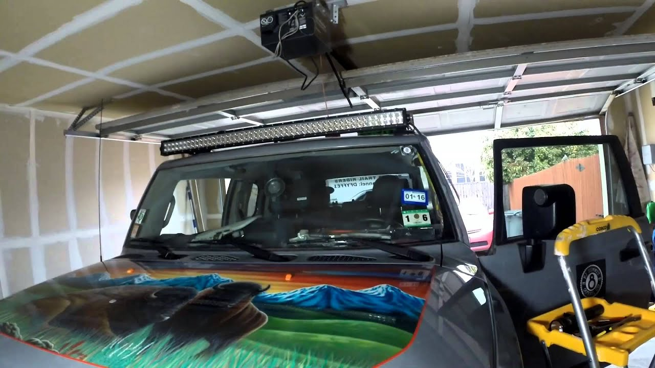 Fj Cruiser 50 Lightbar Install Part 2 Youtube