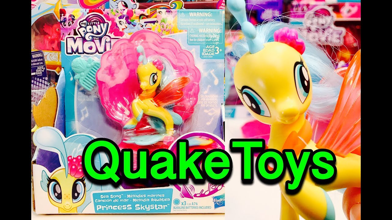My Little Pony The Movie Sea Song Musical Princess Skystar MLP SeaPony With Movie  Songs QuakeToys 2d7a045451