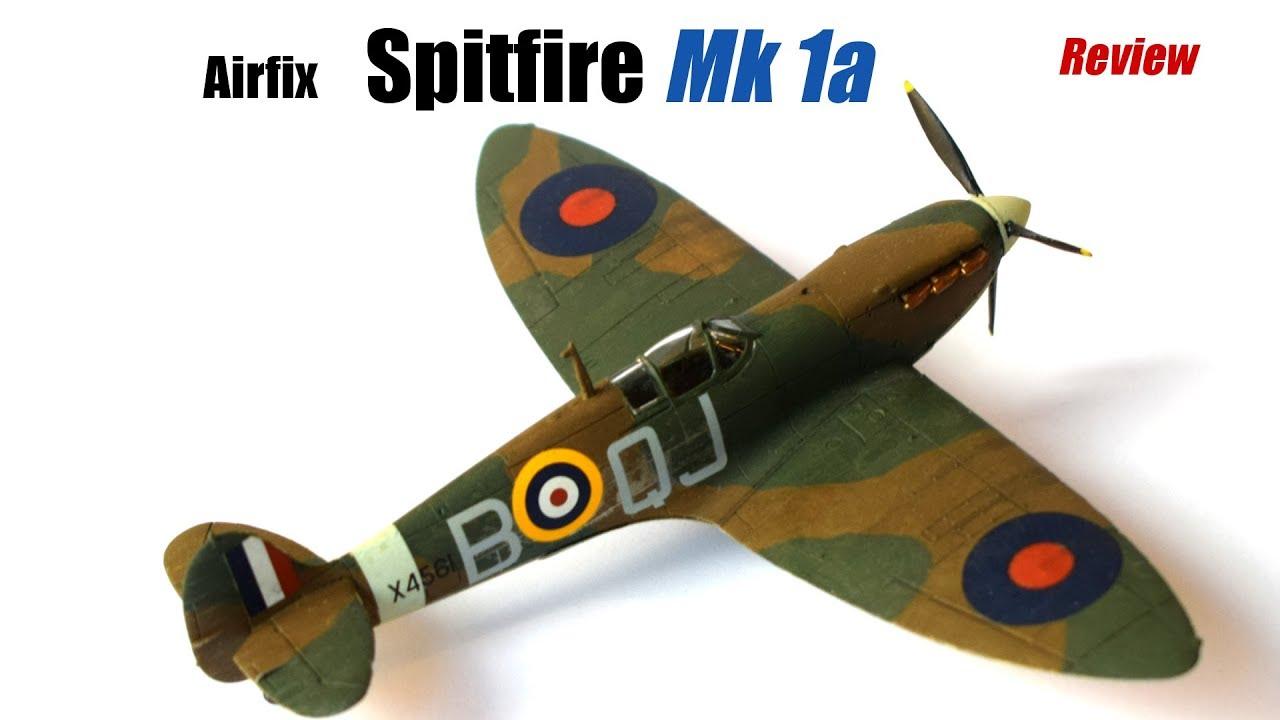 spitfire plane model. airfix supermarine spitfire mk1a quick review - model plane