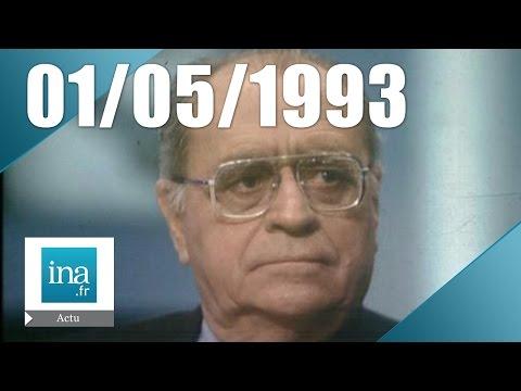 20h France 2 du 1er mai 1993 - Suicide de Pierre Bérégovoy   Archive INA